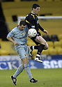02/02/2008    Copyright Pic: James Stewart.File Name : sct_jspa09_livingston_v_partick_th.DES MCCAFFERY GETS ABOVE GARY HARKINS.James Stewart Photo Agency 19 Carronlea Drive, Falkirk. FK2 8DN      Vat Reg No. 607 6932 25.Studio      : +44 (0)1324 611191 .Mobile      : +44 (0)7721 416997.E-mail  :  jim@jspa.co.uk.If you require further information then contact Jim Stewart on any of the numbers above........