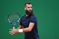 11th April 2021; Roquebrune-Cap-Martin, France;  Benoit Paire during practise sessions for the  Rolex Monte Carlo Masters