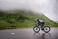 Esteban Chaves (COL/BikeExchange) descending the Col de la Colombière (1618 m)<br /> <br /> Stage 8 from Oyonnax to Le Grand-Bornand (151km)<br /> 108th Tour de France 2021 (2.UWT)<br /> <br /> ©kramon