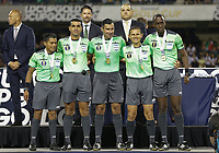 CHICAGO, ILLINOIS - JULY 07: The referees receive their medals during awards ceremony after the 2019 CONCACAF Gold Cup Final match between the United States and Mexico at Soldier Field on July 07, 2019 in Chicago, Illinois.