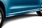 Exterior side skirt detail view of a 2011 Mitsubishi Outlander Sport SE