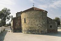 SPAIN. CASTILE-LA MANCHA. TOLEDO. Cardiel de los Montes. Church of Santiago Apostol (Renaisance style). Circular apse. Renaisance.