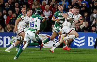 Friday 8th October 2021<br /> <br /> Nathan Doak races clear to score during the URC Round 3 clash between Ulster Rugby and Benetton Rugby at Kingspan Stadium, Ravenhill Park, Belfast, Northern Ireland. Photo by John Dickson/Dicksondigital