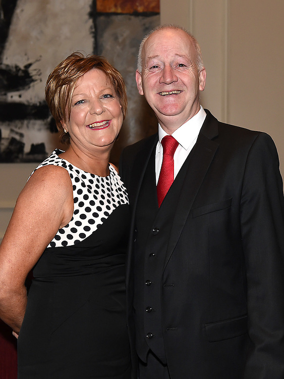 Dermot and caroline Caffrey pictured at the Ardee Traders Awards night in the Nuremore hotel Carrickmacross. Photo:Colin Bell/pressphotos.ie