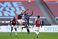 21st March 2021; London Stadium, London, England; English Premier League Football, West Ham United versus Arsenal; Thomas Soucek of West Ham United fouls Thomas Partey of Arsenal