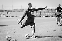 BRADENTON, FL - JANUARY 21: Kellyn Acosta shoots the ball during a training session at IMG Academy on January 21, 2021 in Bradenton, Florida.