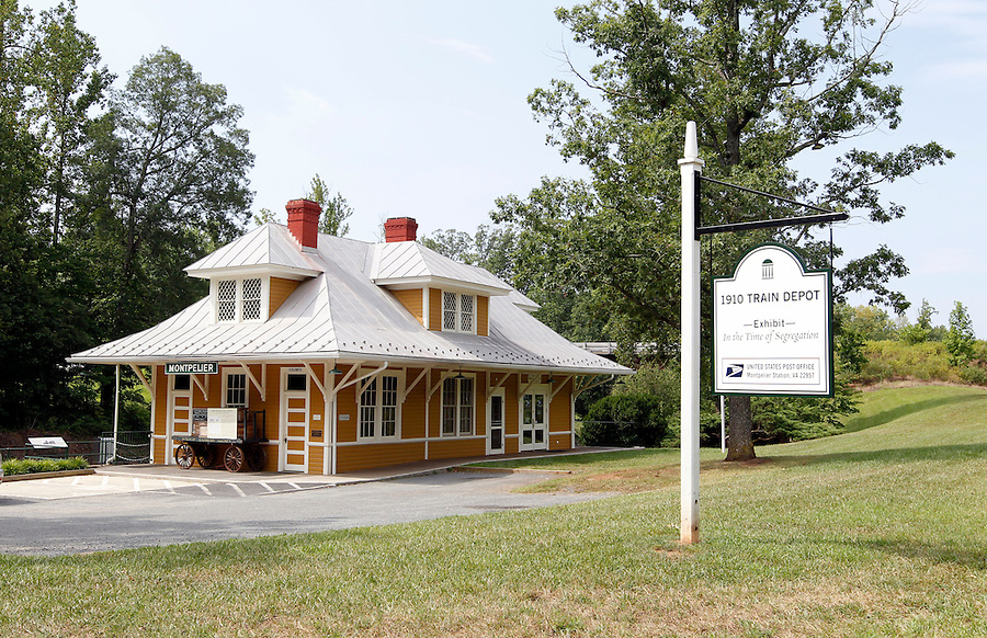Historical train Depot at Montpelier in Orange County, Virginia. Photo/Andrew Shurtleff