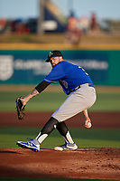 Biloxi Shuckers starting pitcher Braden Webb (30) during a Southern League game against the Pensacola Blue Wahoos on May 3, 2019 at Admiral Fetterman Field in Pensacola, Florida.  Pensacola defeated Biloxi 10-8.  (Mike Janes/Four Seam Images)