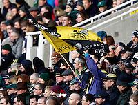 Photo: Richard Lane/Richard Lane Photography. London Irish v London Wasps. Aviva Premiership. 30/11/2013. Wasps flag.