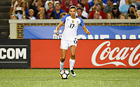 Cincinnati, OH - Tuesday September 19, 2017: Tobin Heath celebrate during an International friendly match between the women's National teams of the United States (USA) and New Zealand (NZL) at Nippert Stadium.