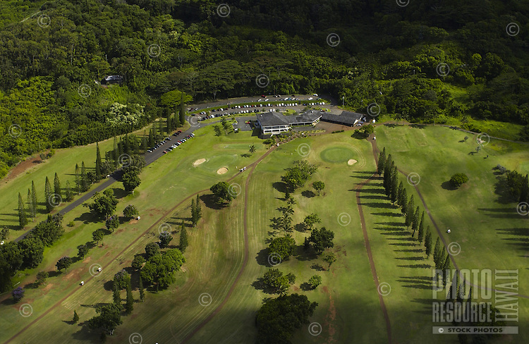 Aerial of Koolau clubhouse and golf course