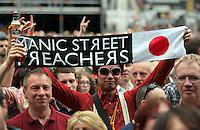 Pictured: A Manic Street Preachers fan from Japan Saturday May 2016<br /> Re: Manic Street Preachers at the Liberty Stadium, Swansea, Wales, UK