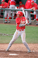 """Kyle """"Beep"""" Stiner #11 of the University of New Mexico Lobos bats against the Arizona State Sun Devils in game two of the 2011 season opening series on February 20, 2011 at Packard Stadium, Arizona State University, in Tempe, Arizona..Photo by:  Bill Mitchell/Four Seam Images."""