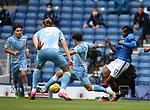 25.07.2020 Rangers v Coventry City: Joe Aribo lays off the ball