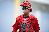 Boston Red Sox catcher Alan Marrero (23) during an Instructional League game against the Minnesota Twins on September 23, 2016 at JetBlue Park at Fenway South in Fort Myers, Florida.  (Mike Janes/Four Seam Images)