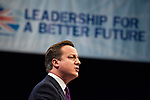 © Joel Goodman - 07973 332324  . 05/10/2011 . Manchester, UK . DAVID CAMERON delivers the leader's speech at the 2011 Conservative Party Conference at the Manchester Central Convention Centre (formerly GMex) . Photo credit: Joel Goodman