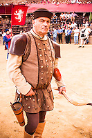 Archer of the town of Montalcino, Palio di Siena parade