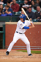 Chattanooga Lookouts second baseman Levi Michael (9) at bat during a game against the Jacksonville Suns on April 30, 2015 at AT&T Field in Chattanooga, Tennessee.  Jacksonville defeated Chattanooga 6-4.  (Mike Janes/Four Seam Images)