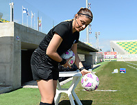 20190301 - LARNACA , CYPRUS : Cypriotic referee Androula Saitti Mouhtari pictured during a women's soccer game between Finland and Czech Republic , on Friday 1 March 2019 at the AEK Arena in Larnaca , Cyprus . This is the second game in group A for Both teams during the Cyprus Womens Cup 2019 , a prestigious women soccer tournament as a preparation on the Uefa Women's Euro 2021 qualification duels. PHOTO SPORTPIX.BE   DAVID CATRY