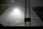 St Johnstone v Kilmarnock…06.11.20   McDiarmid Park SPFL<br />A foggy picture at McDairmid Park ahead of kick off<br />Picture by Graeme Hart.<br />Copyright Perthshire Picture Agency<br />Tel: 01738 623350  Mobile: 07990 594431