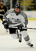 1 December 2007: Providence College Friars' forward Matt Germain, a Freshman from Rockland, MA, in action against the University of Vermont Catamounts at Gutterson Fieldhouse in Burlington, Vermont. The Friars defeated the Catamounts 4-0 in front of a capacity crowd of 4003, for the 64th consecutive sell-out at Gutterson...Mandatory Photo Credit: Ed Wolfstein Photo