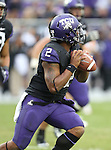TCU Horned Frogs wide receiver Ja'Juan Story (1) in action during the game between the Iowa State Cyclones and the TCU Horned Frogs  at the Amon G. Carter Stadium in Fort Worth, Texas. Iowa State defeats TCU 37 to 23....