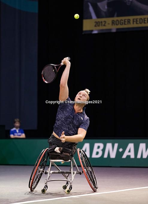 Rotterdam, The Netherlands, 4 march  2021, ABNAMRO World Tennis Tournament, Ahoy, First round wheelchair: Nicolas Peifer (FRA).<br /> Photo: www.tennisimages.com/