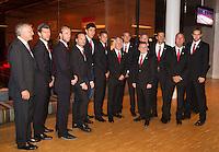 11-sept.-2013,Netherlands, Groningen,  Martini Plaza, Tennis, DavisCup Netherlands-Austria, Training,   Official Dinner, Austrian Team<br /> Photo: Henk Koster