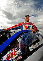 Oct. 31, 2008; Las Vegas, NV, USA: NHRA pro stock driver Ron Krisher during qualifying for the Las Vegas Nationals at The Strip in Las Vegas. Mandatory Credit: Mark J. Rebilas-