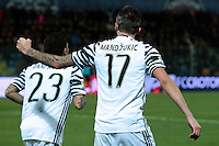 Esultanza Gol Mario Mandzukic Juventus 0-1 Goal celebration <br /> Crotone 08-02-2017 Stadio Ezio Scida <br /> Football Calcio Serie A 2016/2017 Crotone - Juventus  <br /> Foto Cesare Purini Insidefoto