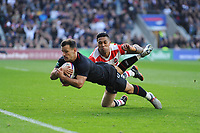 Danny Care of England runs in the first try of the afternoon during the Quilter International match between England and Japan at Twickenham Stadium on Saturday 17th November 2018 (Photo by Rob Munro/Stewart Communications)