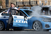 Actor Tom Cruise and actress Hayley Atwell on the set of the film Mission Impossible 7 at Imperial Fora in Rome. <br /> Rome (Italy), October 13th 2020<br /> Photo Samantha Zucchi Insidefoto