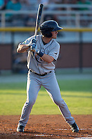 Blake Butera (2) of the Princeton Rays at bat against the Burlington Royals at Burlington Athletic Stadium on June 24, 2016 in Burlington, North Carolina.  The Rays defeated the Royals 16-2.  (Brian Westerholt/Four Seam Images)