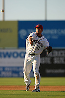 August 24 2008: Kristopher Negron of the Lancaster JetHawks during game against the Modesto Nuts at Clear Channel Stadium in Lancaster,CA.  Photo by Larry Goren/Four Seam Images