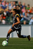 Marta Vieira da Silva (10) of the Los Angeles Sol. The Los Angeles Sol defeated Sky Blue FC 2-0 during a Women's Professional Soccer match at TD Bank Ballpark in Bridgewater, NJ, on April 5, 2009. Photo by Howard C. Smith/isiphotos.com