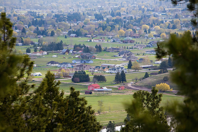 Missoula, Montana on the western side of the valley