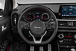 Car pictures of steering wheel view of a 2020 KIA Picanto GT-Line 5 Door Hatchback Steering Wheel