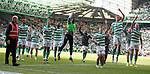 31.03.2019 Celtic v Rangers: Celtic celebrate at FT