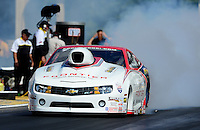 May 4, 2012; Commerce, GA, USA: NHRA pro stock driver Greg Stanfield during qualifying for the Southern Nationals at Atlanta Dragway. Mandatory Credit: Mark J. Rebilas-