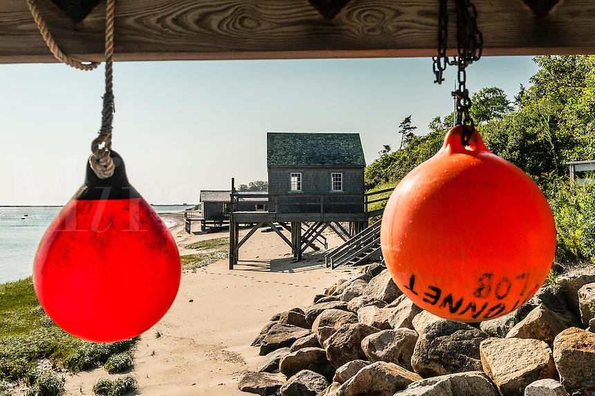 Rustic boathouse, Chatham, Cape Cod, MA, USA