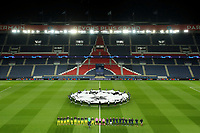 Soccer Football - Champions League - Round of 16 Second Leg - Paris St Germain v Borussia Dortmund - Parc des Princes, Paris, France - March 11, 2020  General view as the teams line up before the match        TPX IMAGES OF THE DAY<br /> Photo Pool/Panoramic/Insidefoto