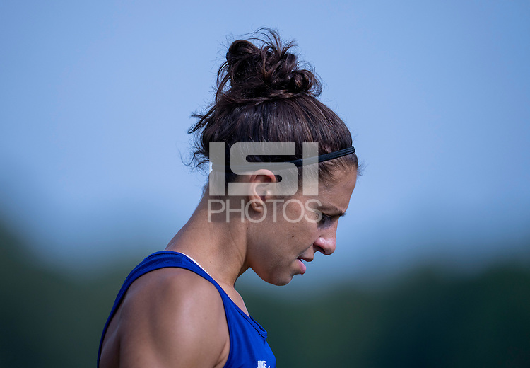 CLEVELAND, OH - SEPTEMBER 14: Carli Lloyd of the United States warms up during a training session at the training fields on September 14, 2021 in Cleveland, Ohio.