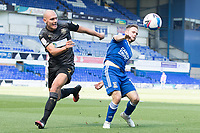 Alan Judge of Ipswich Town and Kai Naismith, Wigan Athletic,  challenge for the ball during Ipswich Town vs Wigan Athletic, Sky Bet EFL League 1 Football at Portman Road on 13th September 2020