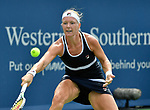 August 13,2019:   Kiki Bertens (NED) loses to Venus Williams (USA) 6-3, 3-6, 7-6, at the Western & Southern Open being played at Lindner Family Tennis Center in Mason, Ohio.  ©Leslie Billman/Tennisclix/CSM