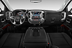 Straight dashboard view of a 2014 GMC Sierra 1500 SLE Crew Cab