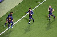 FC Barcelona's Luis Suarez, Philippe Coutinho, Leo Messi and Andres Iniesta celebrate goal during Spanish King's Cup Final match. April 21,2018. (ALTERPHOTOS/Acero)