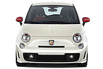 Straight front view of a 2009 Fiat 500 Abarth 3 door hatchback