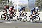 The breakaway group during Stage 5 The Meraas Stage final stage of the Dubai Tour 2018 the Dubai Tour's 5th edition, running 132km from Skydive Dubai to City Walk, Dubai, United Arab Emirates. 10th February 2018.<br /> Picture: LaPresse/Fabio Ferrari | Cyclefile<br /> <br /> <br /> All photos usage must carry mandatory copyright credit (© Cyclefile | LaPresse/Fabio Ferrari)