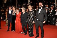 Valentina Acca, Valeria Golino, Stefano Mordini, Marina Fois, Riccardo Scamarcio, Viola Prestieri attend the 'It's Only The End Of The World (Juste La Fin Du Monde)' Premiere during the 69th annual Cannes Film Festival at the Palais des Festivals on May 19, 2016 in Cannes