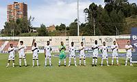RIONEGRO - COLOMBIA, 11-04-2021: Jugadores del Chicó posan para una foto previo al e partido por la fecha 18 entre Águilas Doradas Rionegro y Boyacá Chicó F.C. como parte de la Liga BetPlay DIMAYOR I 2021 jugado en el estadio Alberto Grisales de la ciudad de Rionegro. / Players of Chico pose to a photo prior Match for the date 18 between Aguilas Doradas Rionegro and Boyaca Chico F.C. as part BetPlay DIMAYOR League I 2021 played at Alberto Grisales stadium in Rionegro city. Photo: VizzorImage / Juan Agusto Cardona / Cont